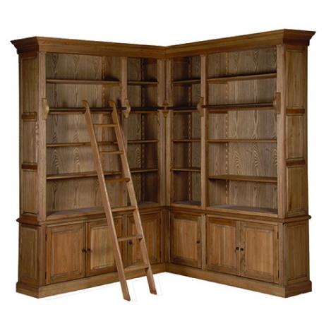 Une imposante bibliothèque d'angle en chêne massif – hors collection - Maison d'un Rêve !