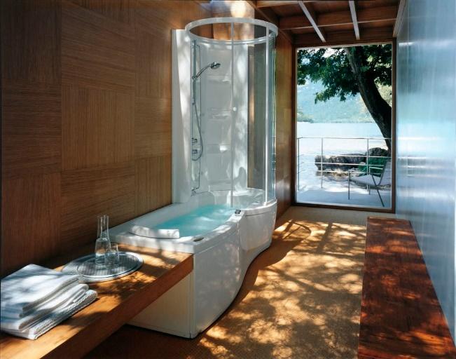 Et pourquoi pas une baignoire douche spa si l'on a la place ?