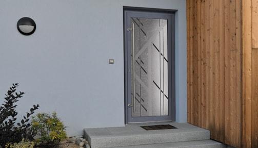 Une porte d'entrée PVC Tryba parmi plein d'autres…
